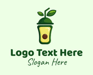 Milkshake - Avocado Smoothie logo design