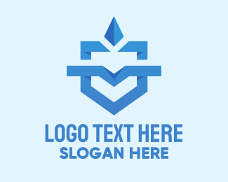 Online Security - Geometric Shield Emblem  logo design