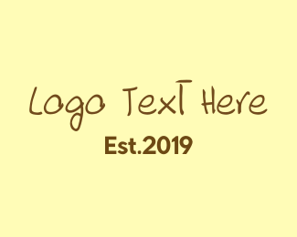 Tradition - Handwritten Brown Text Font logo design