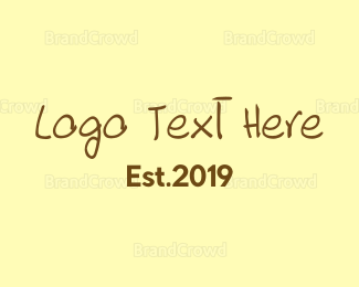 Party - Rough Brown Text logo design