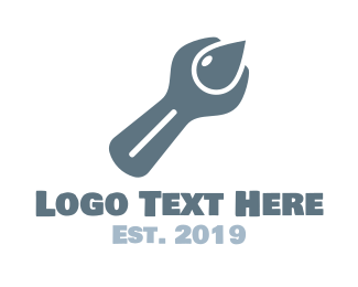 Spanner - Drop Fix logo design