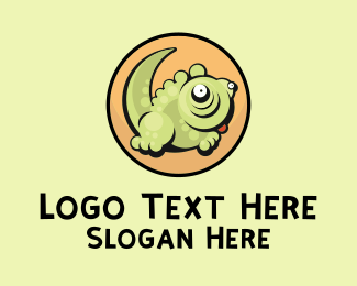 Iguana - Cute Cartoon Lizard logo design