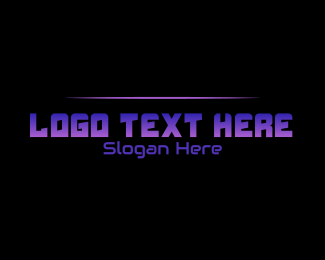 Lounge Bar - Futuristic Purple logo design