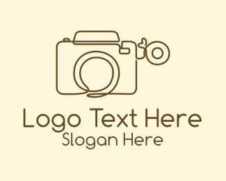 Photograph - Minimalist Photographer Camera logo design