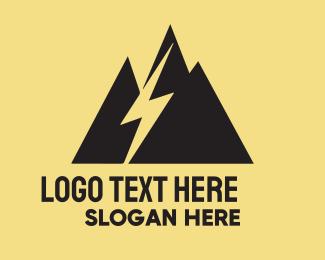 Lightning - Black Mountain Lightning logo design