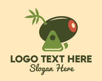 Olive Leaves - Olive Cannon logo design