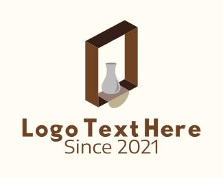 Wooden - Wooden Shelf Design logo design