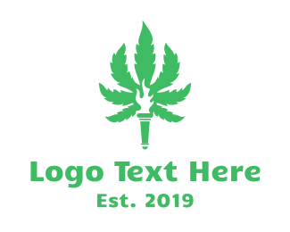 Cannabis - Cannabis Torch logo design