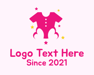 Baby Clothing - Pink Kids Boutique  logo design