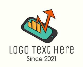 Stock Market - Mobile Stock Market logo design