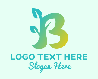 Reborn - Growing Plant Letter B logo design