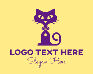 Purple - Purple Pet Cat logo design