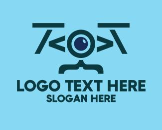 Programmer - Code Drone logo design