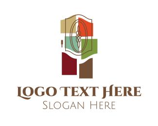 Decoration - Door & Colorful Glass logo design