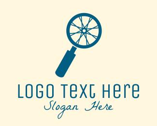 Wheel - Blue Search Wheel logo design