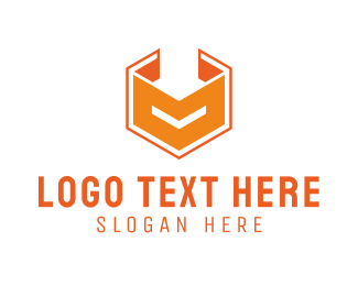 Orange Square - Cube O logo design