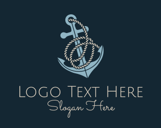 O - Anchor Rope Letter O logo design