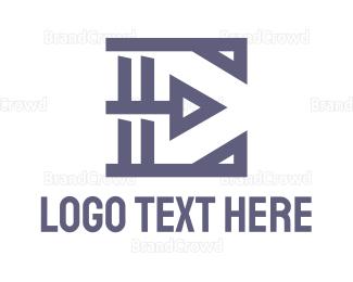 Shape - Geometric Shape E logo design