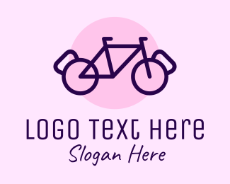 Trainer - Cossfit Bike Fitness logo design