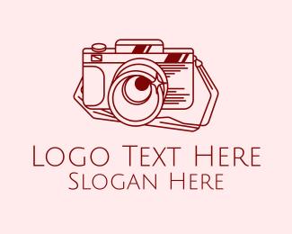 Maroon - Retro Photography Camera logo design