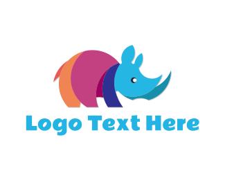 Rhinoceros - Colorful Rhino logo design