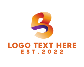 Barcelona - Abstract Letter B logo design