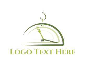 Time - Lunch Time logo design