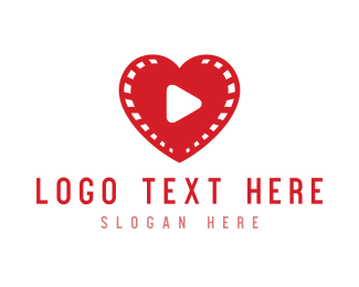 Simple - Heart Video logo design