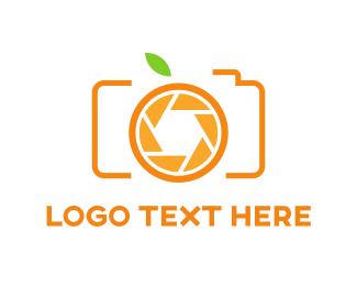 Green And Orange - Orange Camera logo design