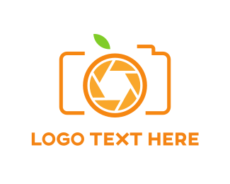 Photo - Orange Camera logo design