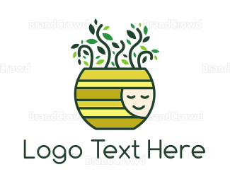 Plants - Happy Pot Plant logo design