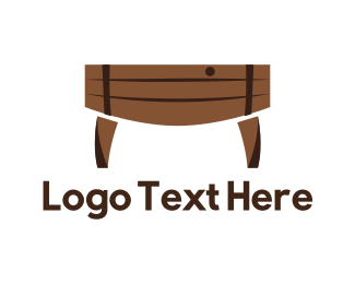 Vineyard - Barrel Table logo design