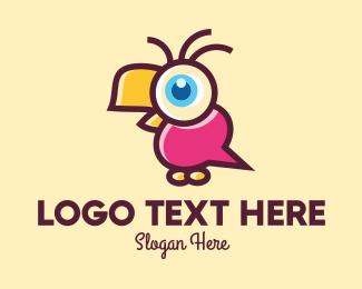 Kids Apparel - Cute Bird Talk logo design