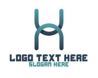 Typography - Modern Letter H logo design