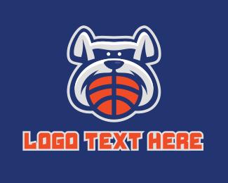Basketball Equipment - Basketball Bulldog Mascot  logo design