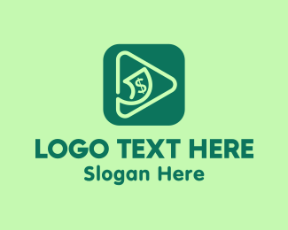 Money Transfer - Dollar Finance App logo design