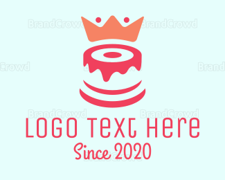 Bread - Red Cake King logo design