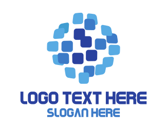 Export - Pixel World Globe logo design