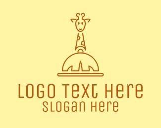 Resto - Giraffe Safari Resto  logo design