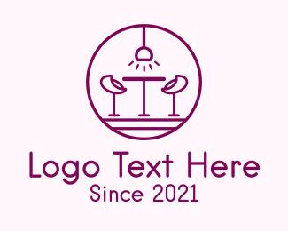 Bar - Lounge Bar Outline logo design