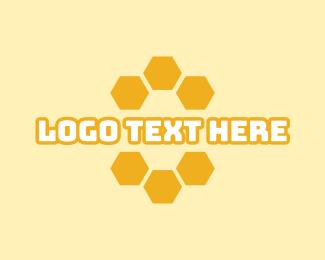 Nest - Honeycomb Wordmark logo design