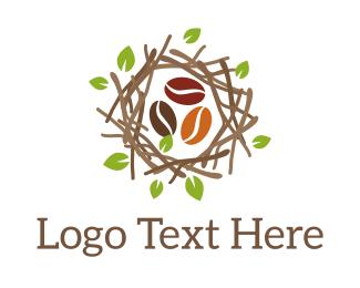 Nest Coffee Beans Logo