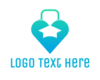 Purse - Heart Bag Graduation logo design
