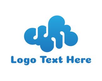 Atmosphere - Cloud Music Note logo design