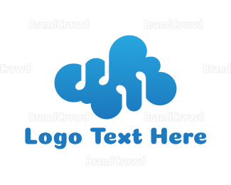 Cloud Drive - Cloud Music Note logo design