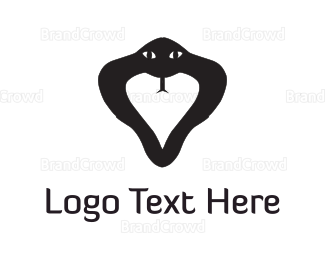 Poisonous - Black Snake logo design