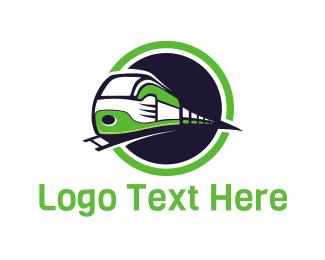 Railway - Bullet Train logo design