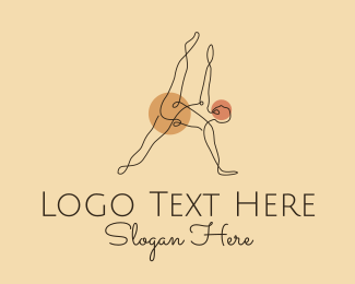 Wellbeing - Yoga Stretch Letter A logo design