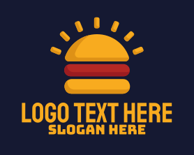 Burger - Morning Burger Sandwich logo design