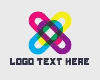 Coder - Colorful Hashtag logo design